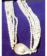 multistrand freshwater pearl MOP necklace - $40.00