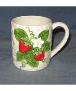 Sears Roebuck STRAWBERRY coffee cup mug 1981 Te... - $7.50