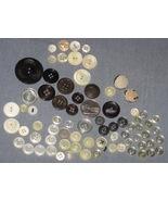 Vintage Estate Sale Button Lot 1.35oz 74 Buttons - $5.75