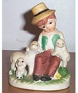 Vintage  Figure Large Boy with Sheep - $20.00