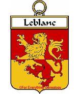 LEBLANC French Coat of Arms Print LEBLANC Famil... - $25.00