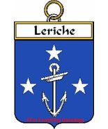 LERICHE French Coat of Arms Print LERICHE Famil... - $25.00