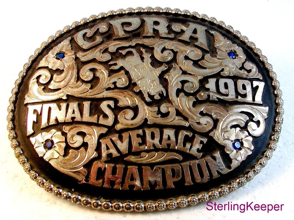 1997 Colorado Professional Rodeo Association CPRA Belt Buckle by Red Bluff Buckl