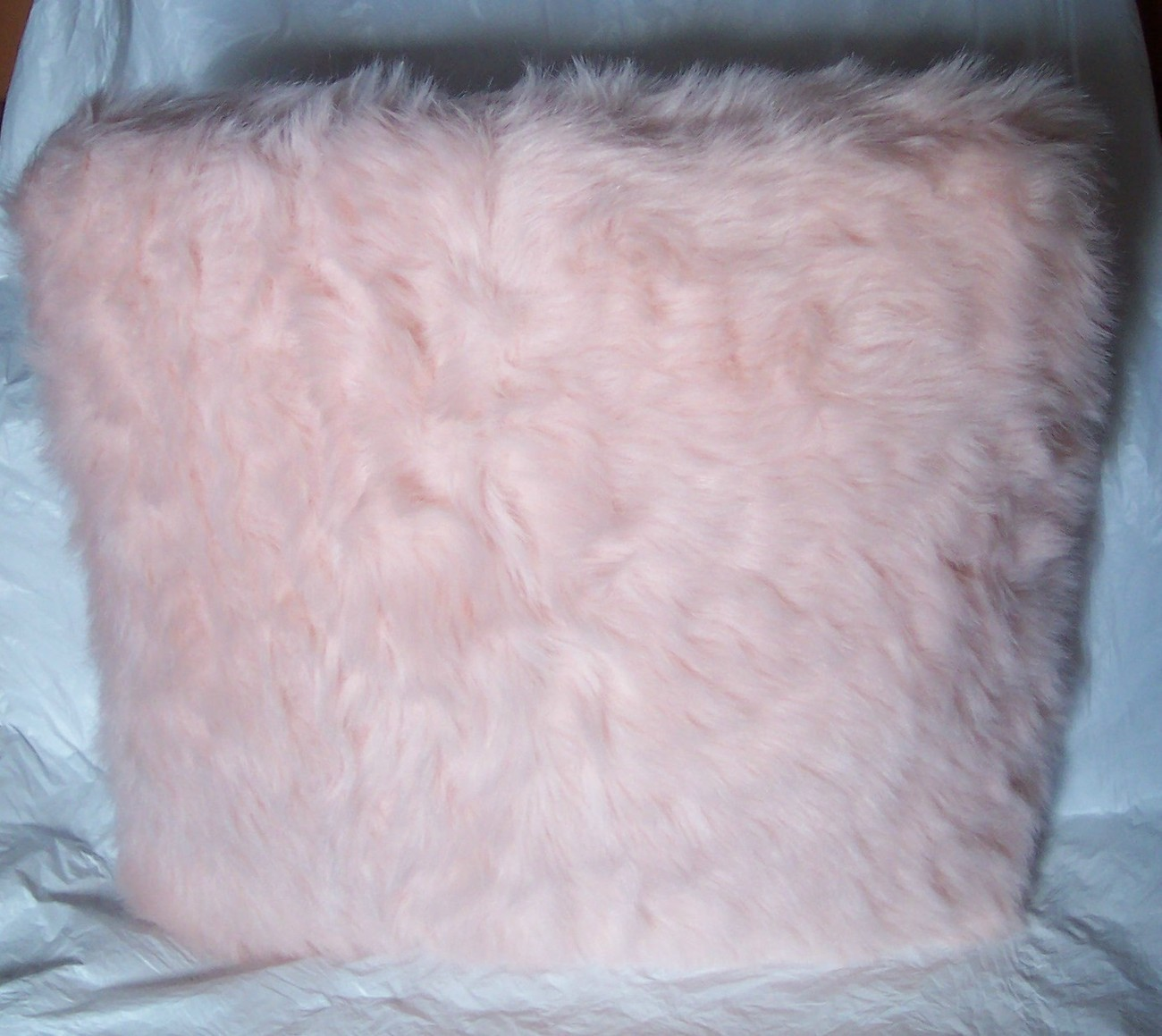 princess diva pink faux fur fuzzy throw pillow girls