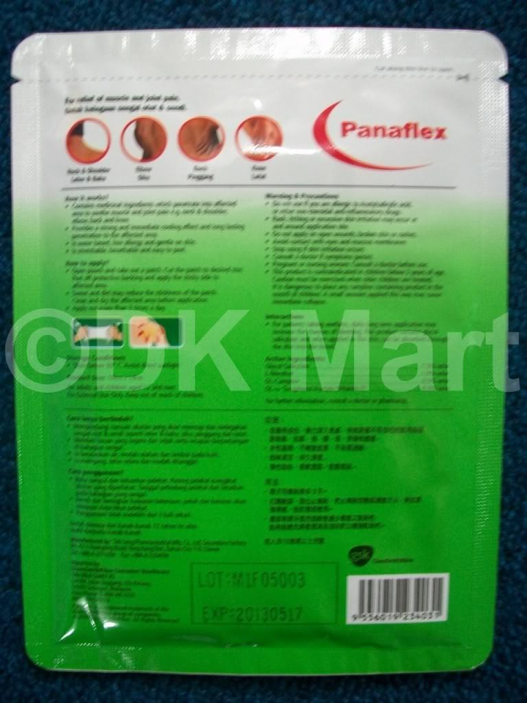 PANAFLEX For Muscle Joint Pain Relief Cure Treatment Patch