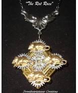 Victorian Steampunk RAT RACE Rodent Gear Necklace - $26.95