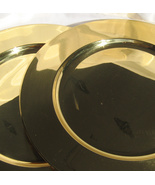 Collectible Gold Tone Brass Platters, Two 12 In... - $9.95