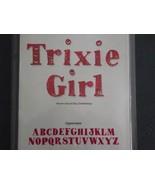 Sizzix Sizzlits Trixie Girl Alphabet u/l case p... - $29.99