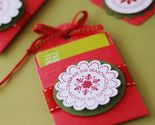 Buy Gift Tags - Hanging Gift Card Holders and Tag Set - In Red