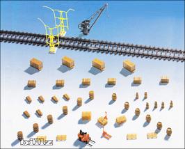 KIBRI HO 8105 - Freight Yard and Loading Dock A... - $32.50