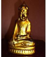 Antique Thai Buddha Gilt Sculpture Figure Circa... - $95.00