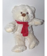 State Farm Insurance Bear Red Scarf White Fur P... - $6.48