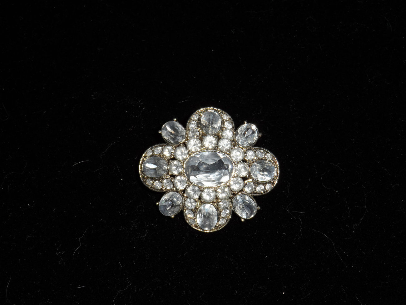 Brilliant Rhinestone Brooch/Pin, signed LC