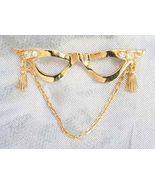 Elegant Avon Crystal Rhinestone Golden Glasses ... - $12.95