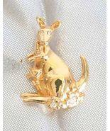 Charming Avon Crystal Rhinestone Golden Kangaro... - $11.95