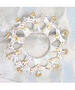 Elegant and festive ! Avon Golden & Silvery Chr... - $14.95