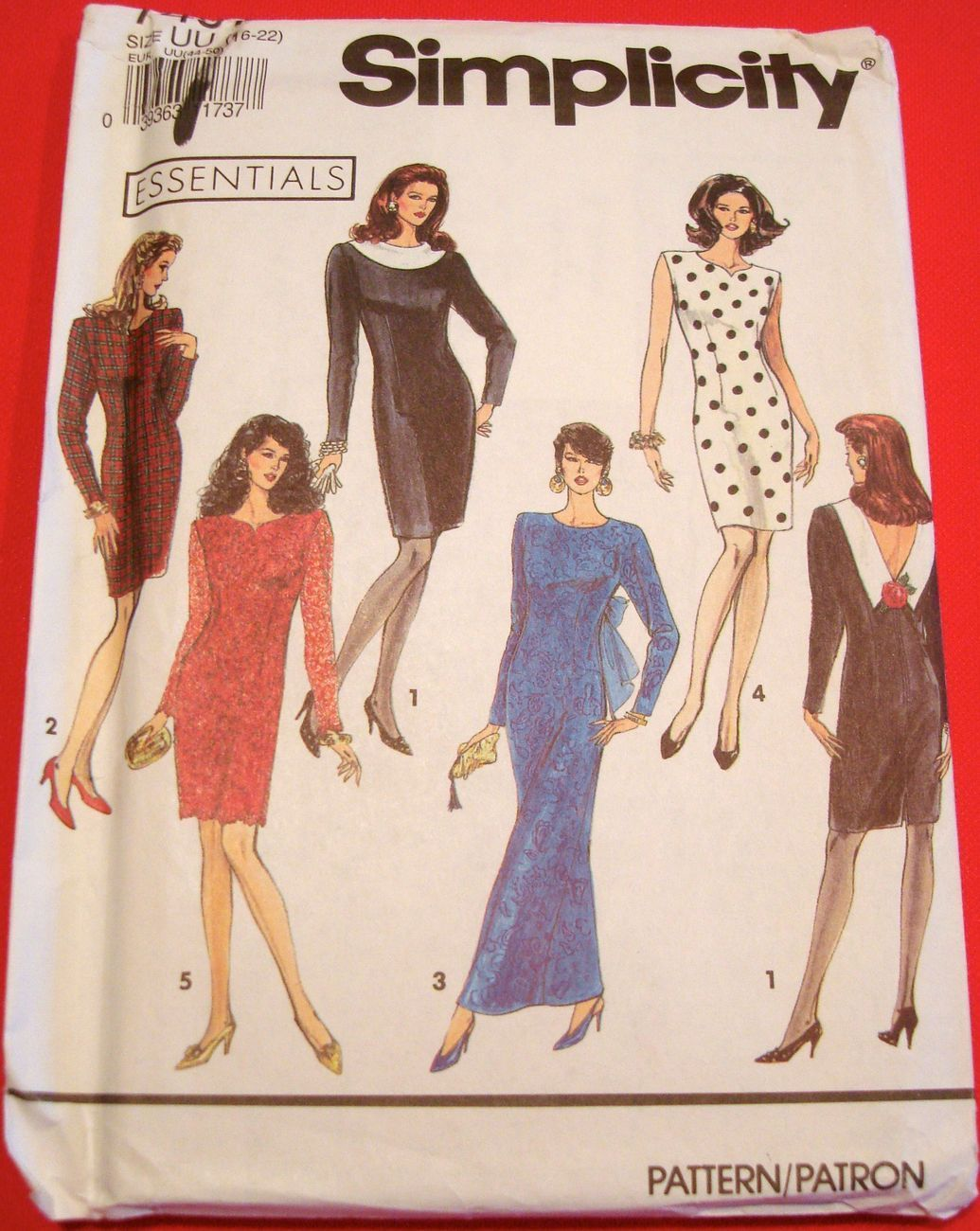 Evening Cocktail Office Dress Pattern UNCUT FF Simplicity 7497 Sz16-26 5Versions