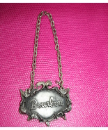 Vintage 1975 cast pewter Bourbon liquor alcohol... - $32.99