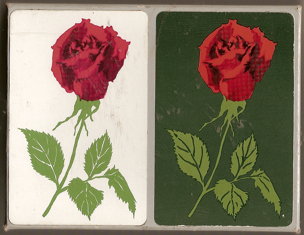 Vintage Lord & Taylor Playing Cards 2 decks Red Rose Dark Green/White