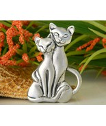 Blackfish Pewter Two Cats Love Pin Brooch Canad... - $19.95