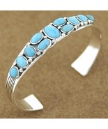 Turquoise Sterling Silver Cuff Bracelet Jewelry - $244.07