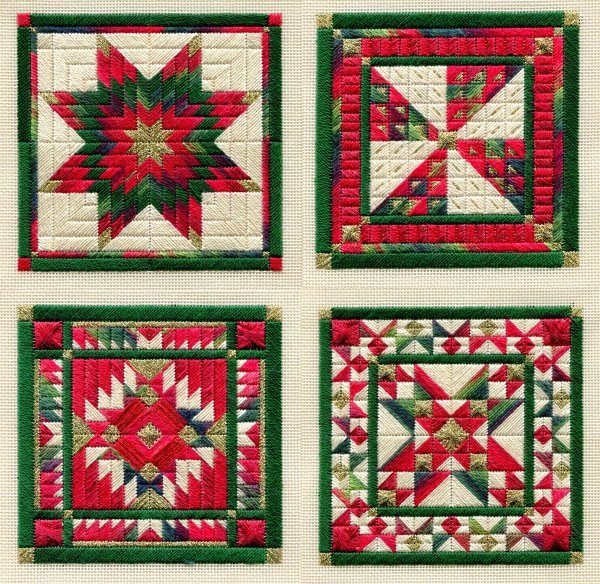 Holiday Ornaments 1 counted canvaswork needlepoint chart Laura J Perin Designs