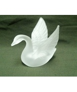 Frosted Glass Swan Collectible Home Decoration... - $15.95
