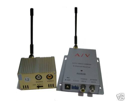 Wireless 1500mW 1.2GHz AUDIO VIDEO Transmitter & Receiver CCTV equipment