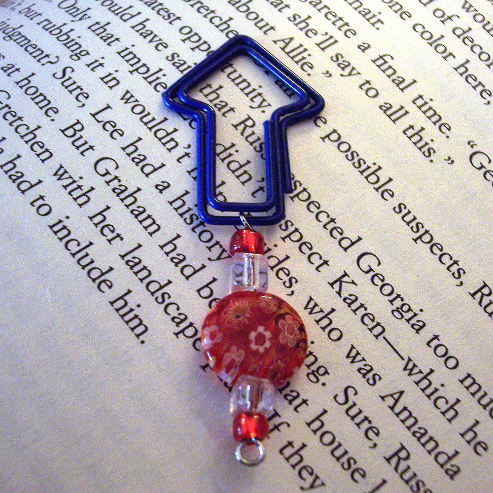 Beaded Page Clip Bookmark - Arrow #4