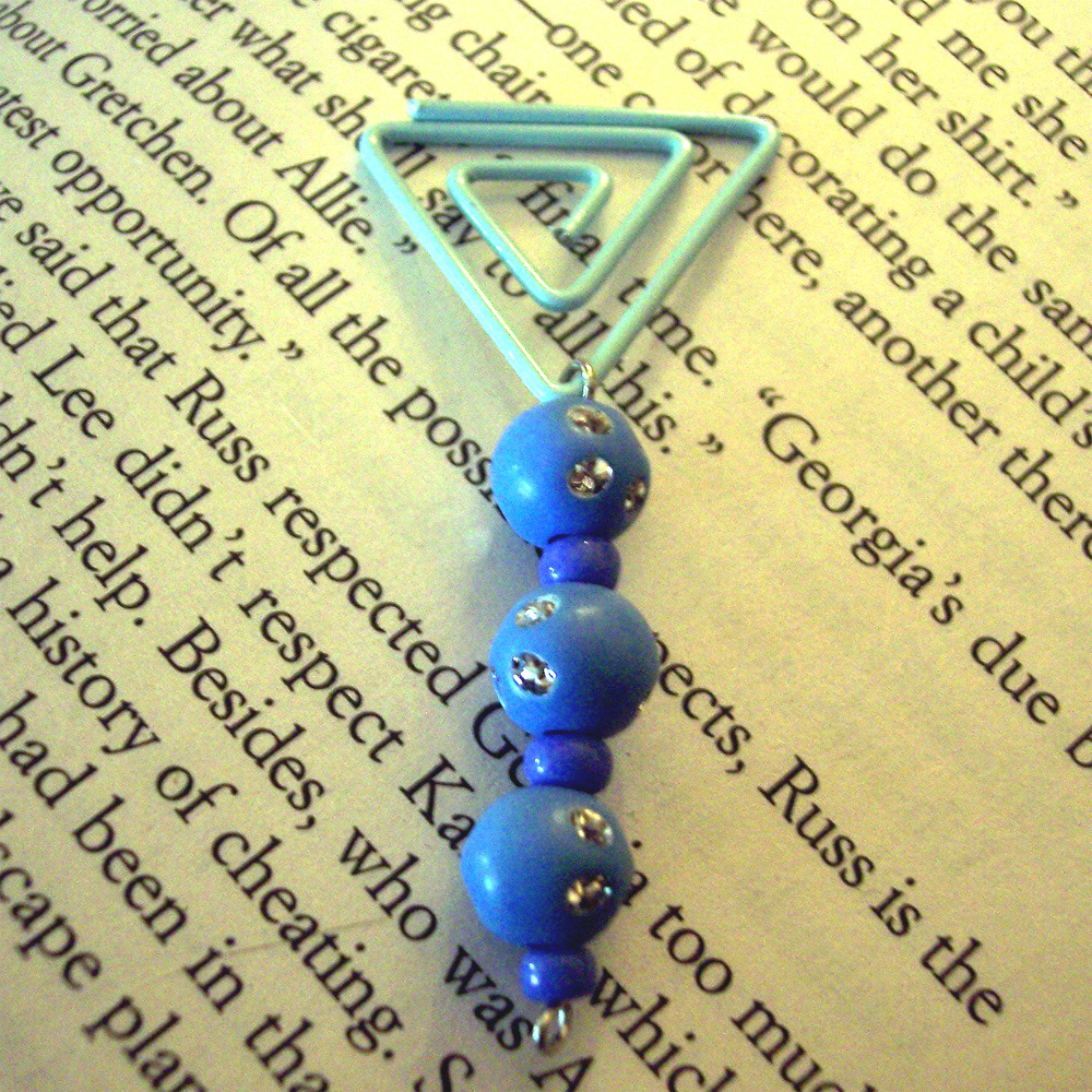 Beaded Page Clip Bookmark - Triangle #1
