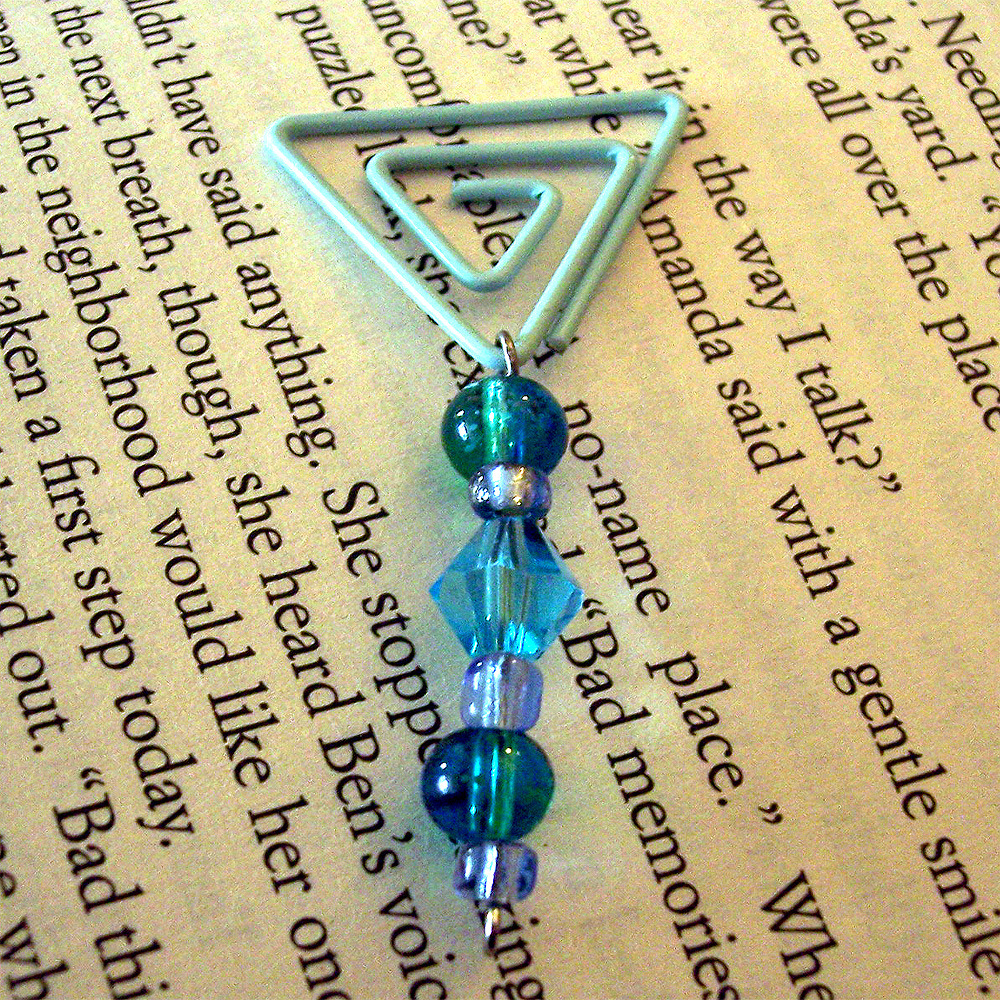Beaded Page Clip Bookmark - Triangle #3