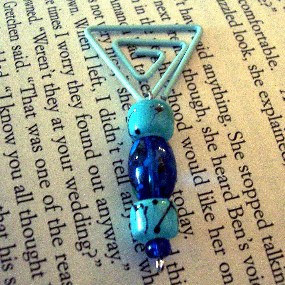 Beaded Page Clip Bookmark - Triangle #7