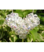 Swarovski Crystal Puffy Heart Necklace in Cryst... - $20.00