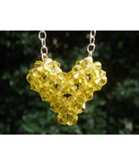 Swarovski Crystal Puffy Heart Necklace in Light... - $25.00