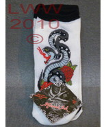 3 Pair Licensed Miami Ink White Snake Tattoo La... - $6.99