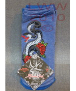 3 Pair Licensed Miami Ink Blue Snake Tattoo Lad... - $6.99