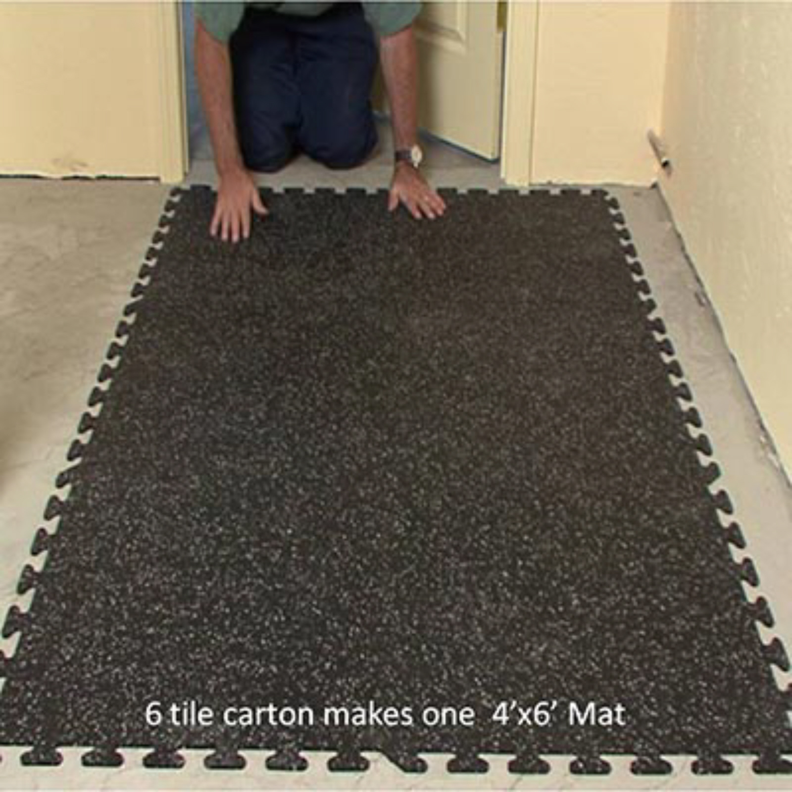 ez flex interlocking rubber floor tiles new floor mats floor tiles flooring other. Black Bedroom Furniture Sets. Home Design Ideas