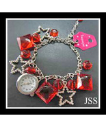 Red Star Watch Bracelet with lots of Character - $11.95