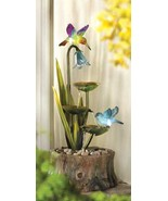 Fountain Hummingbirds glow as sun goes down y... - $67.97