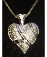 Sterling Silver 925 Heart Pendant Sterling Chain - $57.99