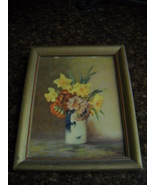 M. Streckenbach Floral Print in Original Frame - $19.99