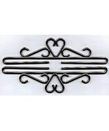 Iron with Pewter Finish Bellpull inverted heart... - $18.00