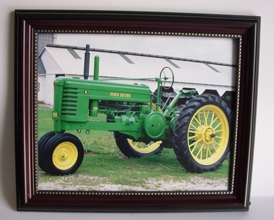 1939 John Deere Model B Farm Tractor Framed 8 x 10 Wall Picture