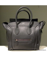 Pre-Loved Fall 2011 Celine Pebbled Mini Luggage, Anthracite