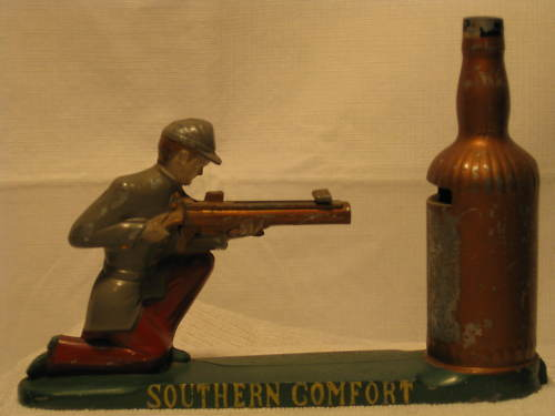 Vintage Southern Comfort mechanical bank