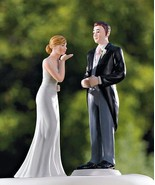 Bride Blowing Kisses Groom Morning Suit Cake To... - $26.71 - $49.48