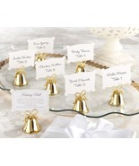 Gold Kissing Bell Wedding Place Card Holders Ph... - $29.98