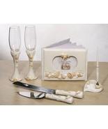 Beach Summer Seashell Wedding Set Accessories R... - $59.98