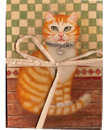 Tabby Cat Note Cards Matching Envelopes 4 pack - $4.50