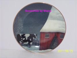American Folk Art Collector Plate Barnyard Chri... - $14.97